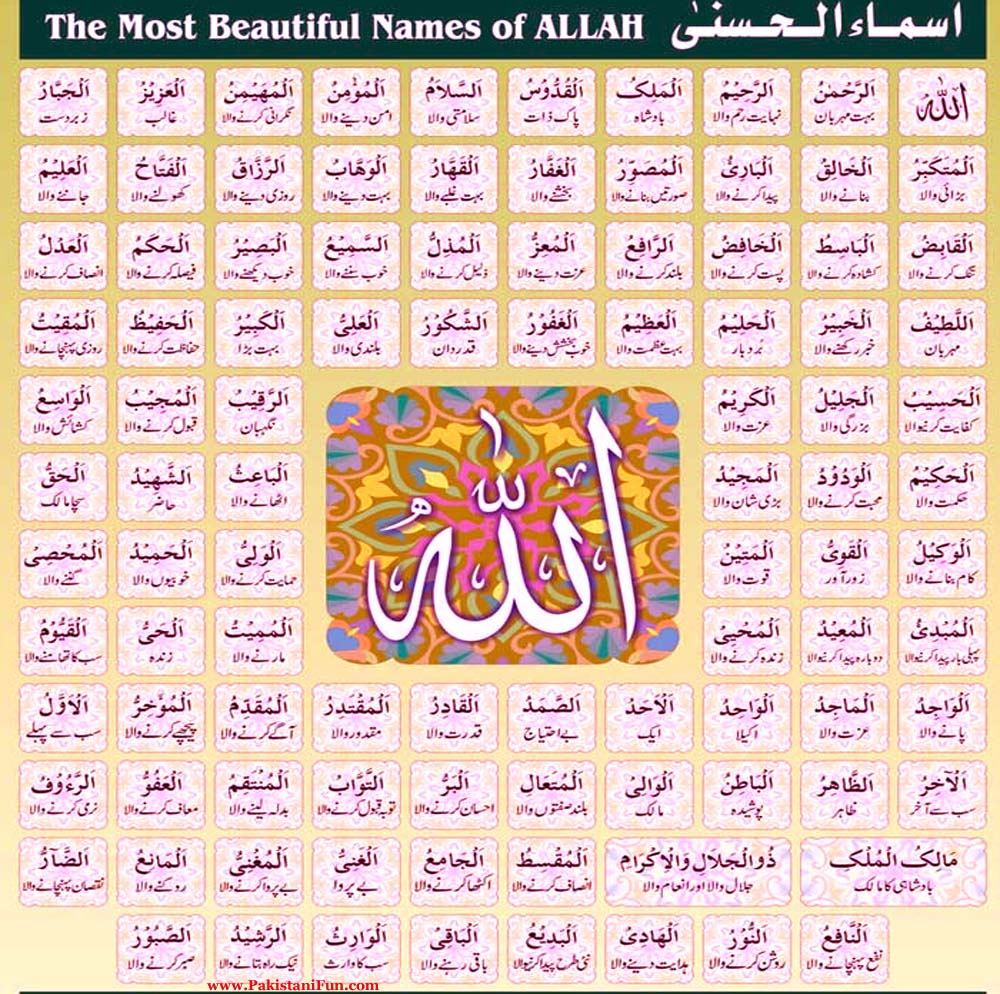 Asma-Ul-Husna-99-Name-Of-Allah